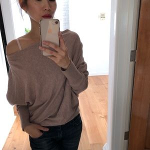 All Saints dusty pink Elgar cowl neck top